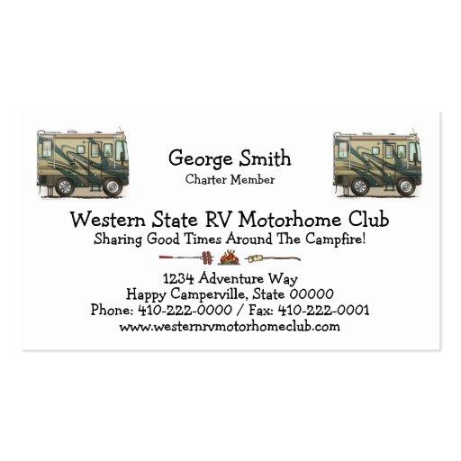 Camper business card templates bizcardstudio cute happy camper big rv coach motorhome business cards colourmoves