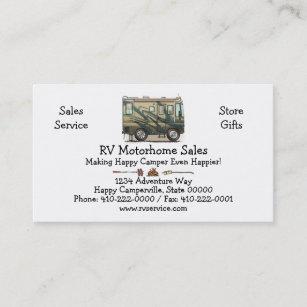 Rv business cards templates zazzle cute happy camper big rv coach motorhome business card colourmoves