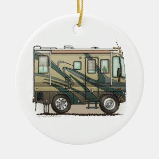 Cute Happy Camper Big RV Coach Motorhome Ceramic Ornament