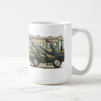 Cute Happy Camper Big RV Coach Motorhome Coffee Mug