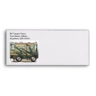 Cute Happy Camper Big RV Coach Motorhome Envelopes