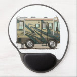 Cute Happy Camper Big RV Coach Motorhome Gel Mouse Pads