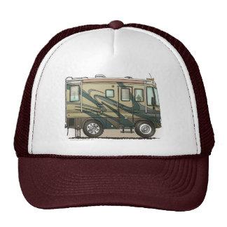 Cute Happy Camper Big RV Coach Motorhome Hats