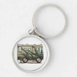 Cute Happy Camper Big RV Coach Motorhome Keychain