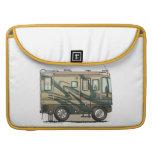 Cute Happy Camper Big RV Coach Motorhome Sleeve For MacBooks