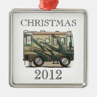 Cute Happy Camper Big RV Coach Motorhome Metal Ornament