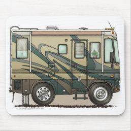 Cute Happy Camper Big RV Coach Motorhome Mouse Pad