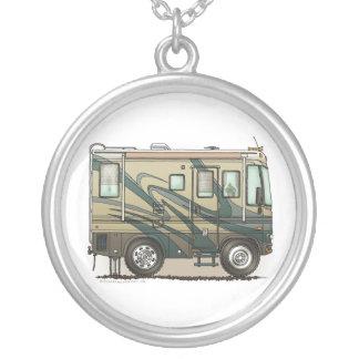 Cute Happy Camper Big RV Coach Motorhome Personalized Necklace