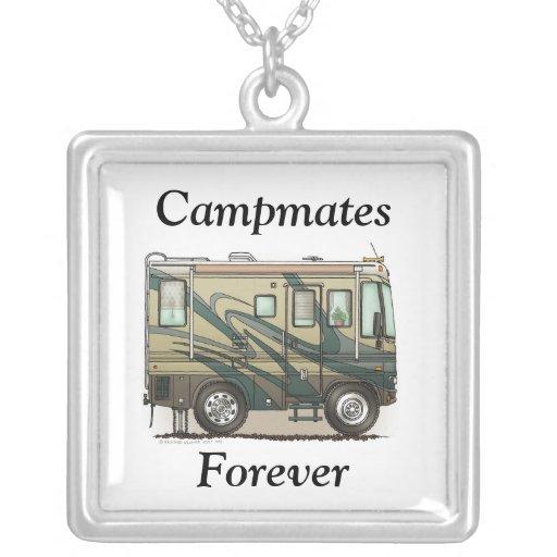Cute Happy Camper Big RV Coach Motorhome Pendant