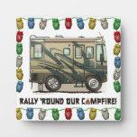 Cute Happy Camper Big RV Coach Motorhome Plaques