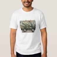 Cute Happy Camper Big RV Coach Motorhome Shirt