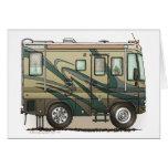 Cute Happy Camper Big RV Coach Motorhome Stationery Note Card