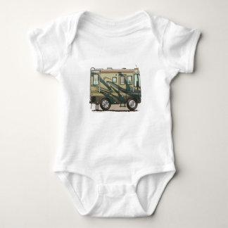 Cute Happy Camper Big RV Coach Motorhome Tee Shirt