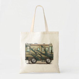 Cute Happy Camper Big RV Coach Motorhome Tote Bag