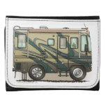 Cute Happy Camper Big RV Coach Motorhome Wallets