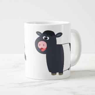 Cute Happy Cartoon Belted Galloway Cow Jumbo Mug 20 Oz Large Ceramic Coffee Mug