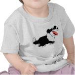 Cute Happy Cartoon Border Collie Baby T-Shirt