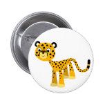 Cute Happy Cartoon Cheetah Button Badge