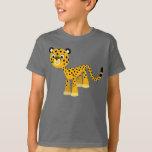 Cute Happy Cartoon Cheetah Children T-Shirt