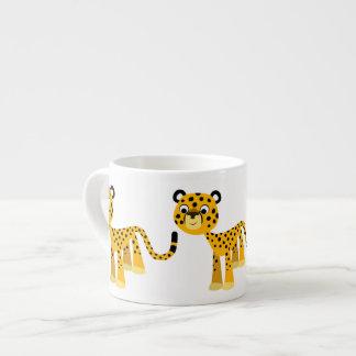 Cute Happy Cartoon Cheetah Espresso Mug