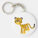 Cute Happy Cartoon Cheetah Keychain