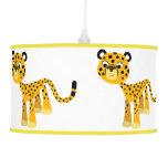 Cute Happy Cartoon Cheetah Pendant Lamp