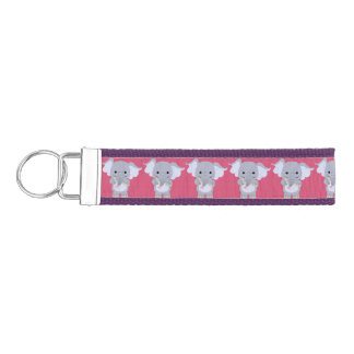 Cute Happy Cartoon Elephant One Up Bands Keychain