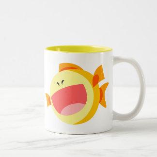 Cute Happy Cartoon Fish Mug