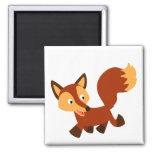 Cute Happy Cartoon Fox Magnet