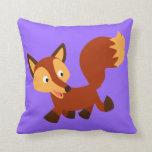 Cute Happy Cartoon Fox Pillow