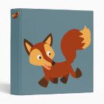 Cute Happy Cartoon Fox Vinyl Binders
