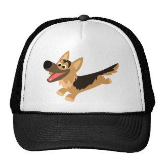 Cute Happy Cartoon German Shepherd Hat