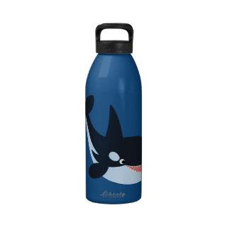 Cute Happy Cartoon Killer Whale 32oz Water Bottle Water Bottle