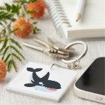 Cute Happy Cartoon Killer Whale Acrylic Keychain