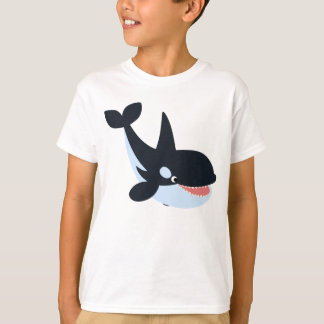 Cute Happy Cartoon Killer Whale Children T-Shirt