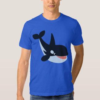 Cute Happy Cartoon Killer Whale T-Shirt