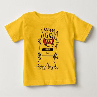 Cute Happy Cartoon Monster Infant T Shirt