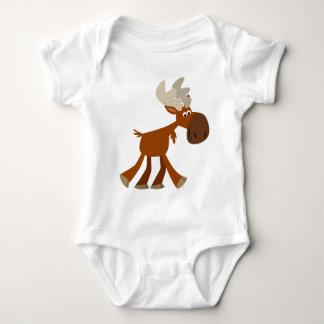 Cute Happy Cartoon Moose Baby Clothing Baby Bodysuit