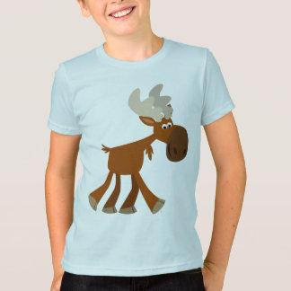 Cute Happy Cartoon Moose Children T-Shirt