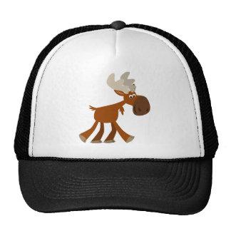 Cute Happy Cartoon Moose Trucker Hat