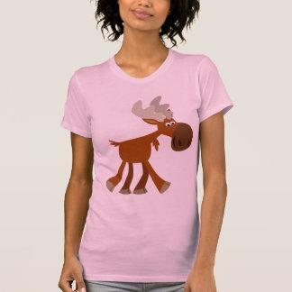 Cute Happy Cartoon Moose Women T-Shirt