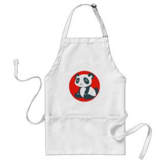 Cute Happy Cartoon Panda Adult Apron