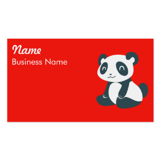 Cute Happy Cartoon Panda Double-Sided Standard Business Cards (Pack Of 100)