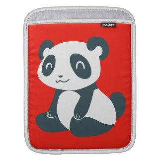 Cute Happy Cartoon Panda iPad Sleeves