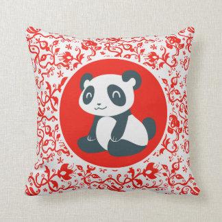 Cute Happy Cartoon Panda Pillow