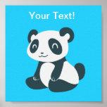Cute Happy Cartoon Panda Poster