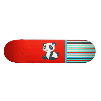 Cute Happy Cartoon Panda Skateboard Deck