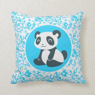 Cute Happy Cartoon Panda Throw Pillows