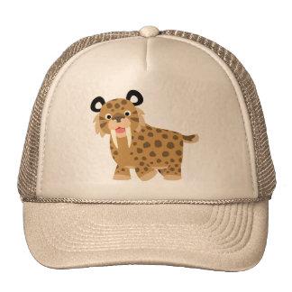 Cute Happy Cartoon Smilodon Hat