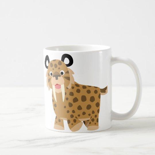 Cute Happy Cartoon Smilodon Mug